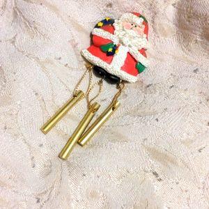 Santa chime magnet
